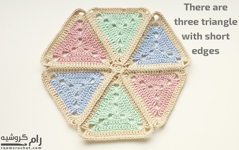 Crochet Doily using Granny Triangles - Raam Crochet