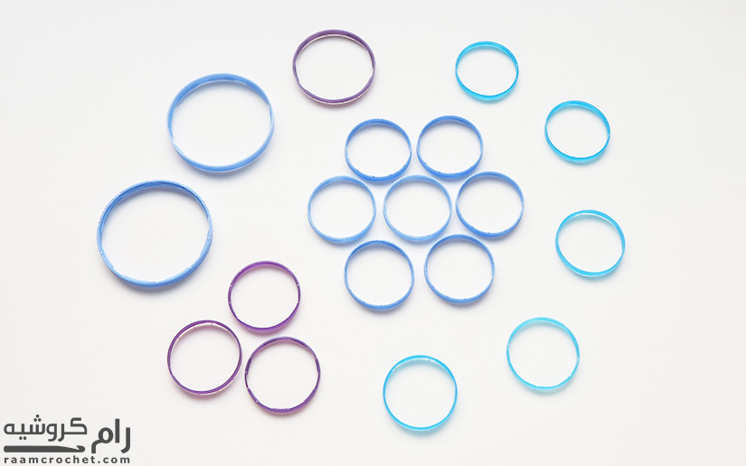 Plastic Rings Different Sizes - Raam Crochet
